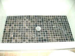 ceramic tile shower floor pans diy cleaner ok for walls tiles enticing pebble bathrooms likable po