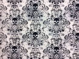 39 best Dark Fabrics images on Pinterest | Texture, Walls and Cards & TT67 Gothic Skull Damask Scary Halloween Tattoo Dead Cotton Quilting Fabric Adamdwight.com