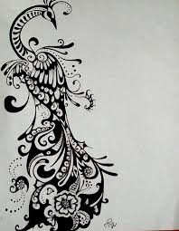 Awesome design black white Bedroom Design Black And White 1440658 license Personal Use Clipart Library Peacock Drawing Ink Tattoo Design Commissioned Tattoo In Black White