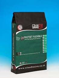 Granfix Fast Set Flexible Adhesive In Grey 20kg Amazon Co