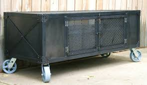 industrial steel furniture. Custom Industrial Scrap Metal Cabinet Steel Furniture