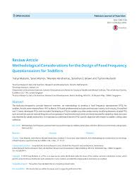 Considerations When Designing A Questionnaire Pdf Methodological Considerations For The Design Of Food