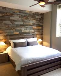 Diy Easy Peel And Stick Wood Wall Decor Schlafzimmer Holzwand