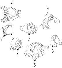 Genuine mitsubishi trans mount brkt mit mn168367
