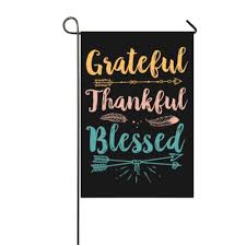 Designer Garden Flags Us 13 99 Custom Thankful Grateful Blessed Designs Seasonal Garden Flags Set 12x18 Inch Flags Double Sided Polyester Durable In Flags Banners