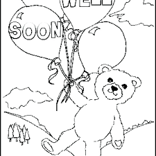 Get Well Soon Cards Printables Get Well Printable Coloring Pages Get Well Soon Printable Coloring