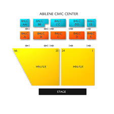 Mcnease Convention Center Seating Chart Abilene Civic Center 2019 Seating Chart