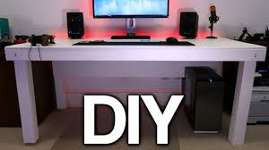 Make Your Own Computer Desk Building A Custom Pc Desk No Visible Cables Youtube