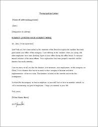 Free Termination Letter Enchanting Termination Letter To Employer Sample Thedoctsiteco