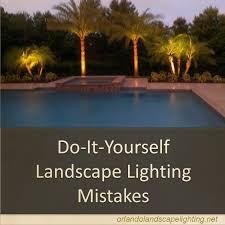diy landscape lighting mistakes