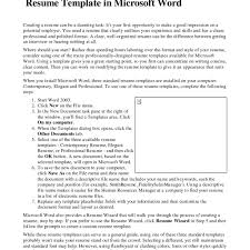 Word 2007 Resume Template Free Professional Resume Templates