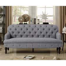 Fonzo Tufted Sofa Grey Tufted Sofa57