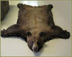 faux bear rug skin