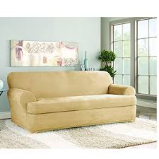 sure fit stretch suede t cushion two