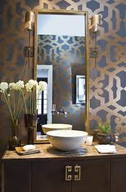 Modern Wallpaper For Bedrooms Good Powder Room Bathroom Ideas For The Home Pinterest