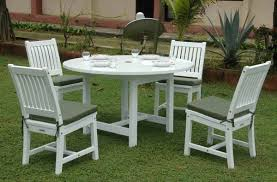 The Gorgeous White Wood Outdoor Furniture Painting In Wooden Chairs
