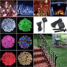 100 led solar powered fairy string light garden party decor