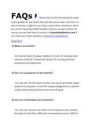 Faqs Inverter 55 By Perkselectronics Issuu