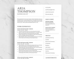 Clean Resume Etsy