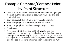 example of a compare contrast essay example of a comparison contrast essay block format essay
