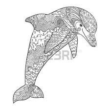 Small Picture coloring pages print Happy dolphin with high details Adult