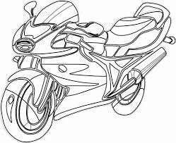 Simple motorcycle pictures to color images of coloring pages