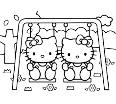 Kleurplaat Hello Kitty Prinses