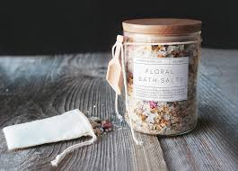 diy fl bath salts free printable labels married to the earth