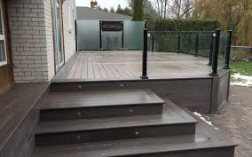 Grey Composite Decking Designs Decks Installing Composite Decking Building Trex