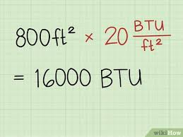 Btu Square Footage Chart How To Calculate Btu Per Square Foot With Calculator Wikihow