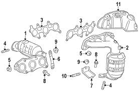 parts com� toyota sienna exhaust components oem parts 98 sienna exhaust diagram at Sienna Exhaust Diagram