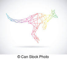 kangaroo silhouette clip art vectorby dagadu10 697 vector design of kangaroos on white background