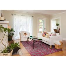 Pink Rugs For Living Room World Menagerie Aanya Hand Knotted Pink Area Rug Reviews Wayfair