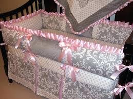 custom crib bedding sets baby bedding custom crib bedding set gray damask pink reserved for final