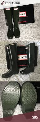 hunter boots size 6 dark olive tall hunter boots size 6 gently used rain boot rain