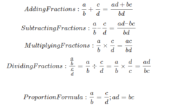 Basic Math Formulas Chart Basic Maths Formulas Addition Subtraction Multiplication