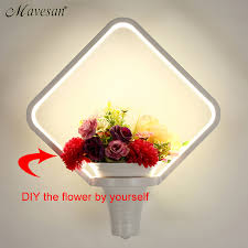 new wall lamp for bathroom bedroom diy flower basket sconce white