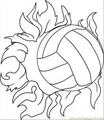 Volleyball Color Pages Volleyball Coloring Pages For Kids Printable Coloring Page