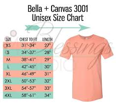 Bella Canvas 3001 Size Chart T Shirt Mockup Flat Lay Adult Size Guide Usa Inches Chart Table Jpeg Psd Editable Download T Shirt Tee Mock Up