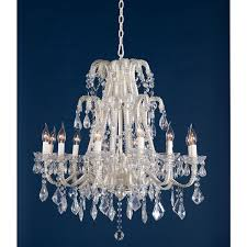 marie therese cream chandelier clear crystal 12 arm