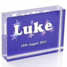 boy s name crystal keepsake personalised baby boy christening or naming day gift