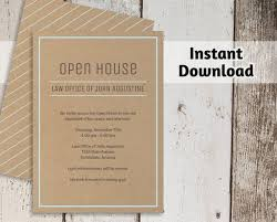 Corporate Invitation Template Fascinating Printable Business Invitation Template Open House Business Etsy