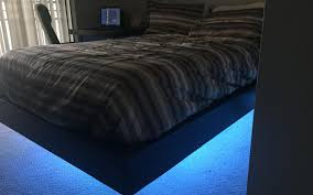 diy a glowing floating bed