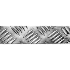 <b>Уголок</b> алюминиевый рифлёный 50х30х1.5 <b>мм</b>, 2 <b>м</b>, цвет серебро