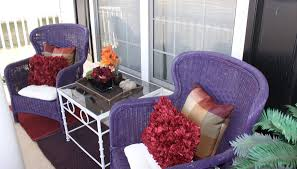 Purple Patio Furniture Within Ideas And – Lecrafteur