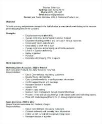 Sales And Marketing Resume Samples Marketing Sales Associate Resume