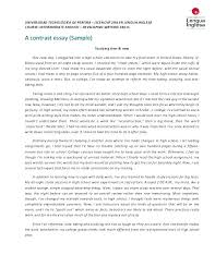 Compare And Contrast Essay Format Pdf Comparing Examples Essays Of