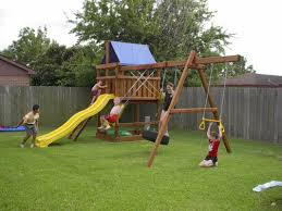 triton playset with 10 wave sllide and four position swingset