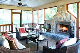 screened porch flooring ideas in furniture stone fireplace