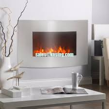 china led colorful back light 35 curved tempered glass wall mounted electric fireplace heater with